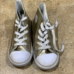Converse 9t gold leather